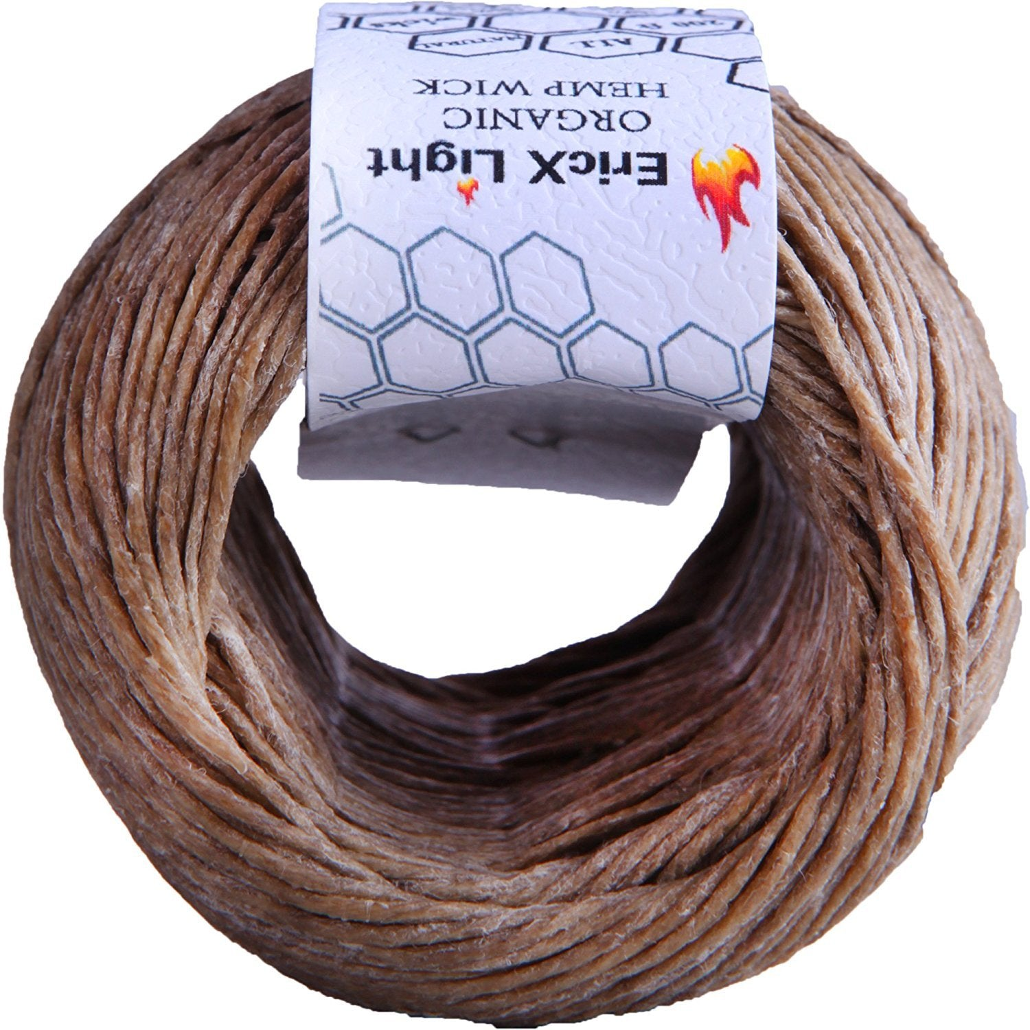 Standard Size 100/% Organic Hemp Wick Well Coated With Natural BeesWax EricX Light Beeswax Hemp Wick 1.0mm 200 ft Spool