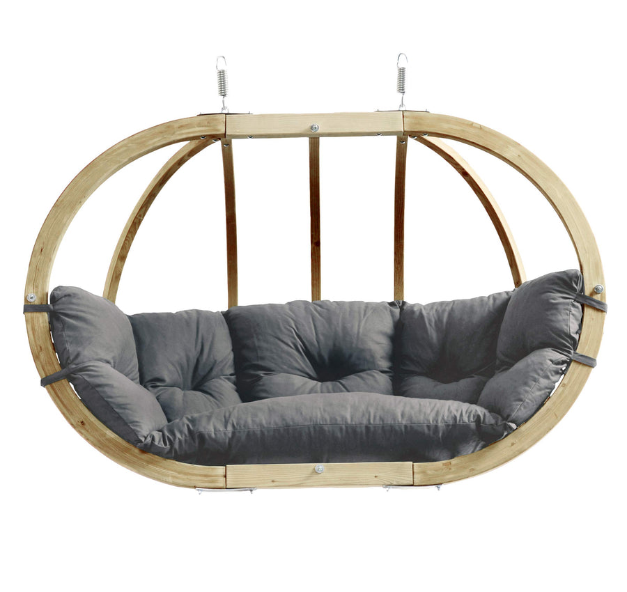 Globo Royal Hanging Chair: Royal Taupe with Soft Cushion