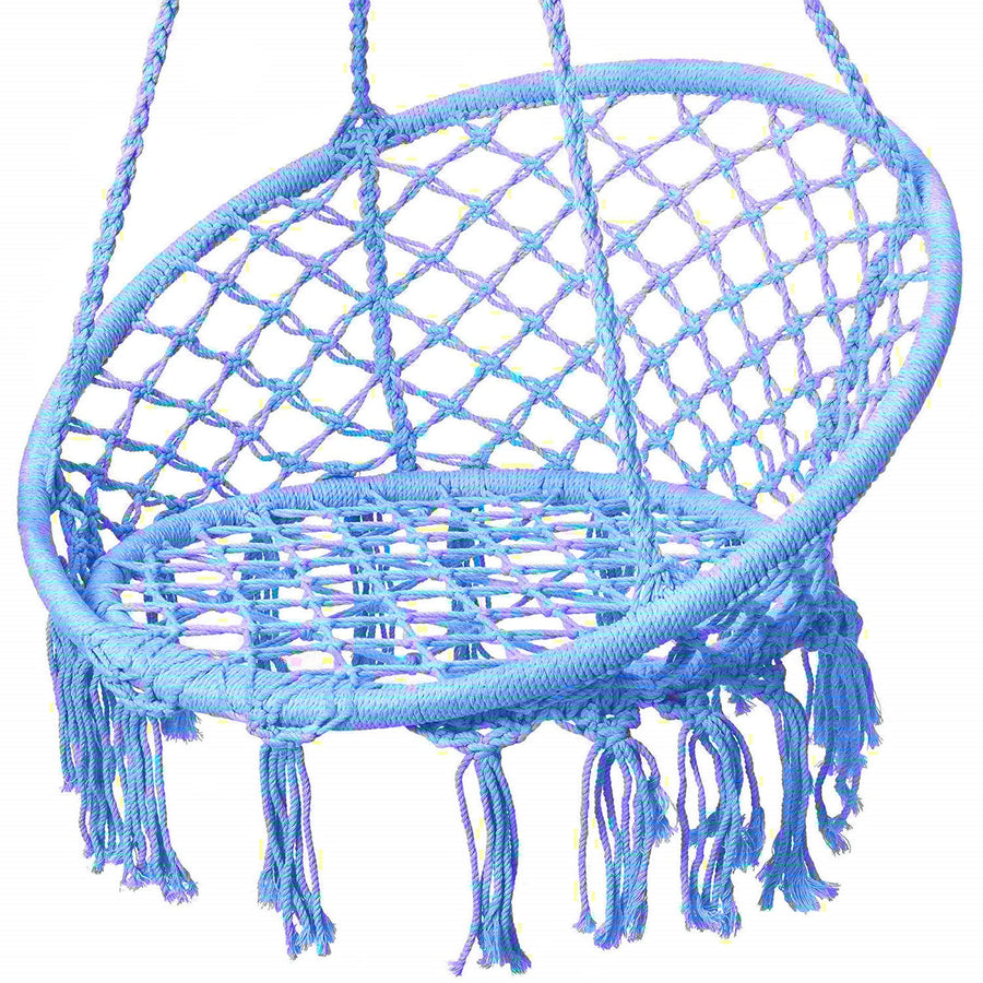 Karriw Hammock Chair Macrame Swing: Blue