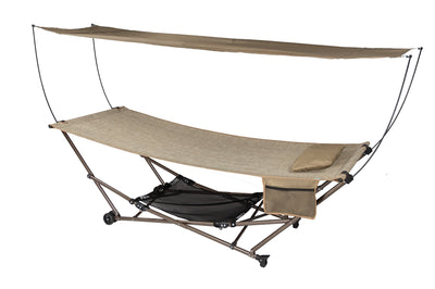 STOW-EZ Portable Hammock + Stand with Canopy: Sand: Bliss Hammocks