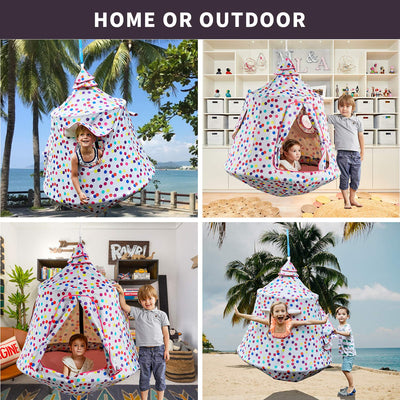 Waterproof Hanging Tree & Ceiling Hammock Tent for Kids