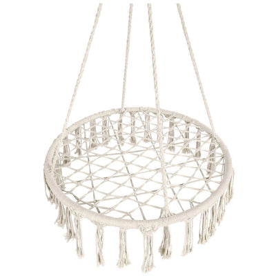 Best Choice Products Handwoven Cotton Macramé Hammock Hanging Chair Swing