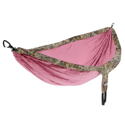 ENO - Eagles Nest Outfitters DoubleNest Camo Camping Hammock, 1 to 2 Person, Realtree Edge: Rose