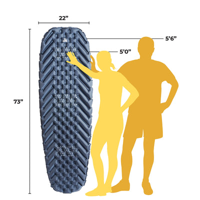 Wise Owl Outfitters Camping Sleeping Pad: Blue