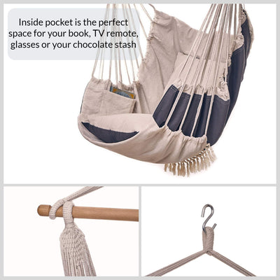 Decoru Hanging Hammock Chair Large Swing Chair