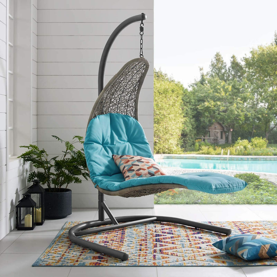 Contemporary Wicker Lounge Swing Hanging Chair
