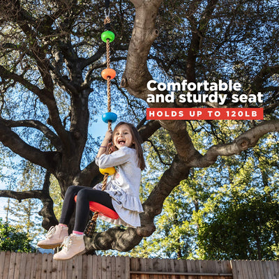Climbing Rope Tree Swing with Platforms and Disc Swings Seat