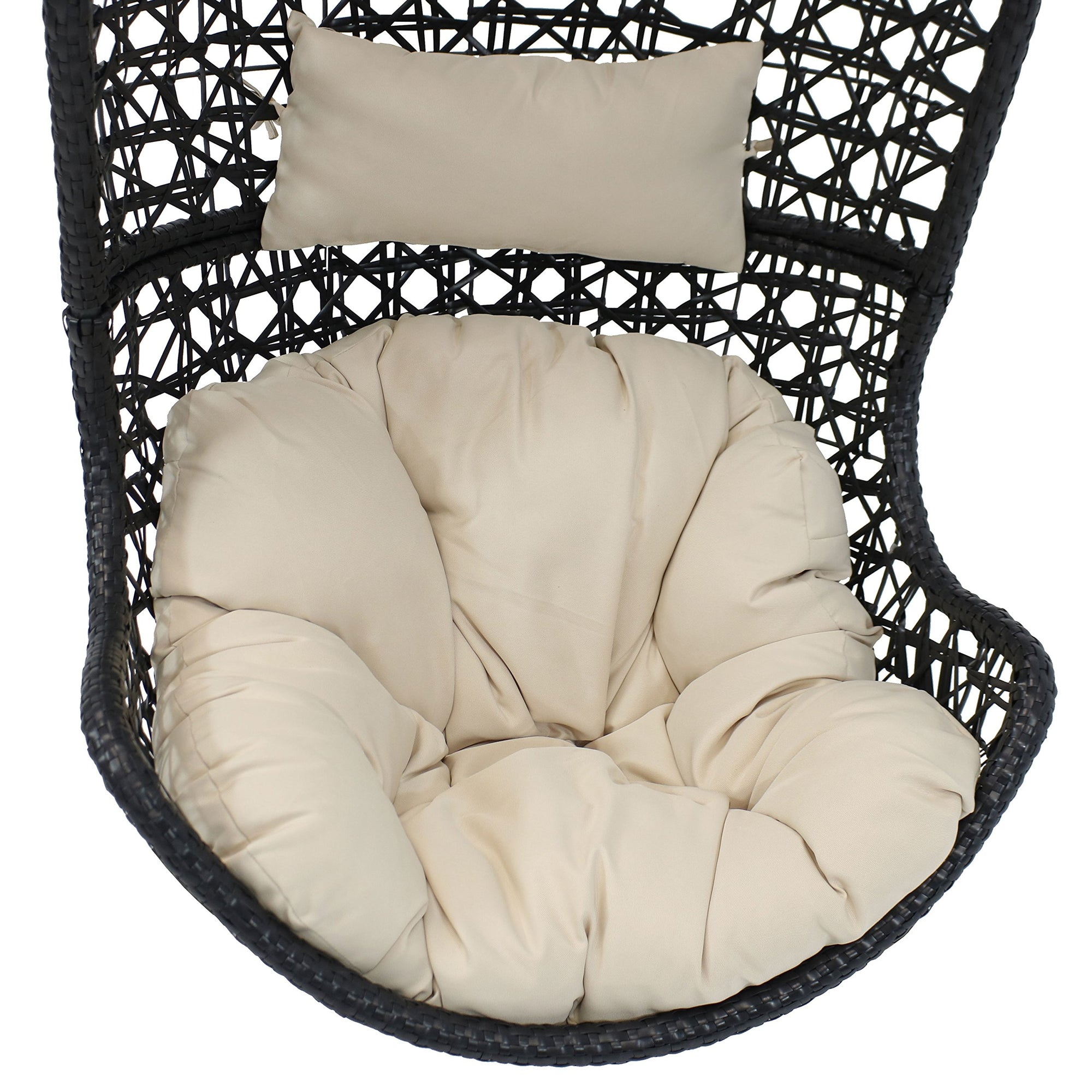 Island Gale Hanging Swing Chair Cushion with 1 Free Headrest Pillow