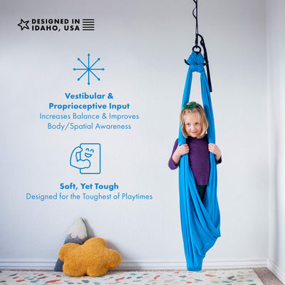 Harkla Indoor Therapy Swing for Kids: Hardware Included