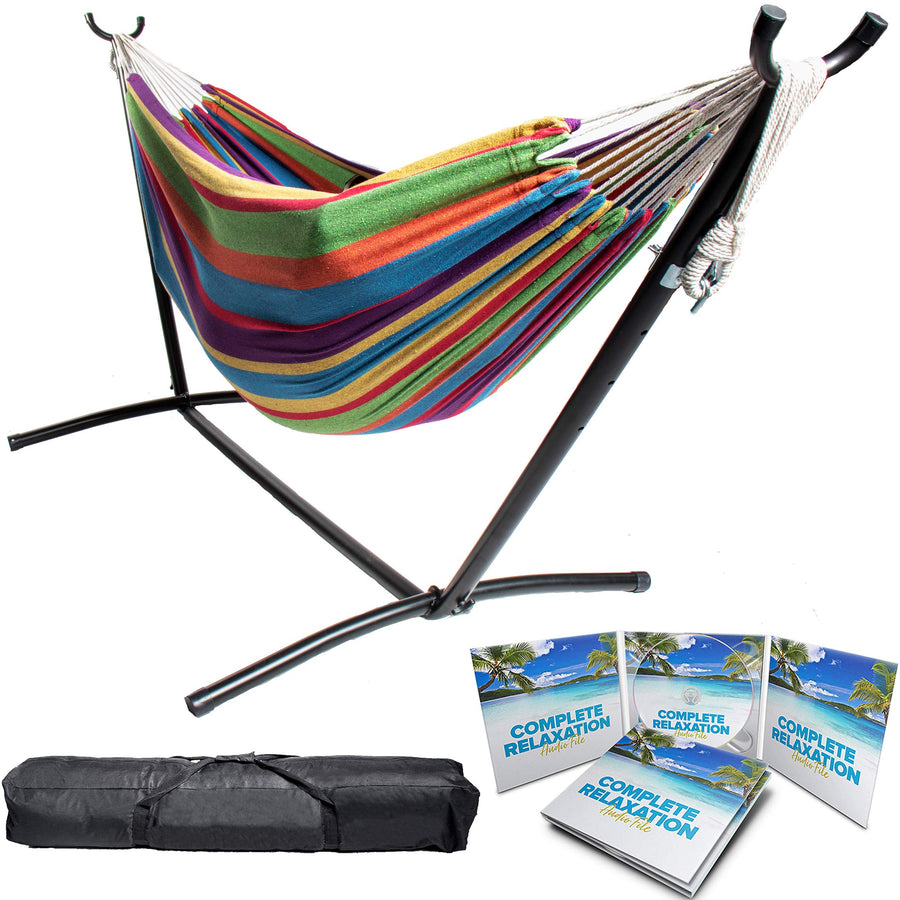 Two Person Hammock with Stand with Luxury Carrying Case