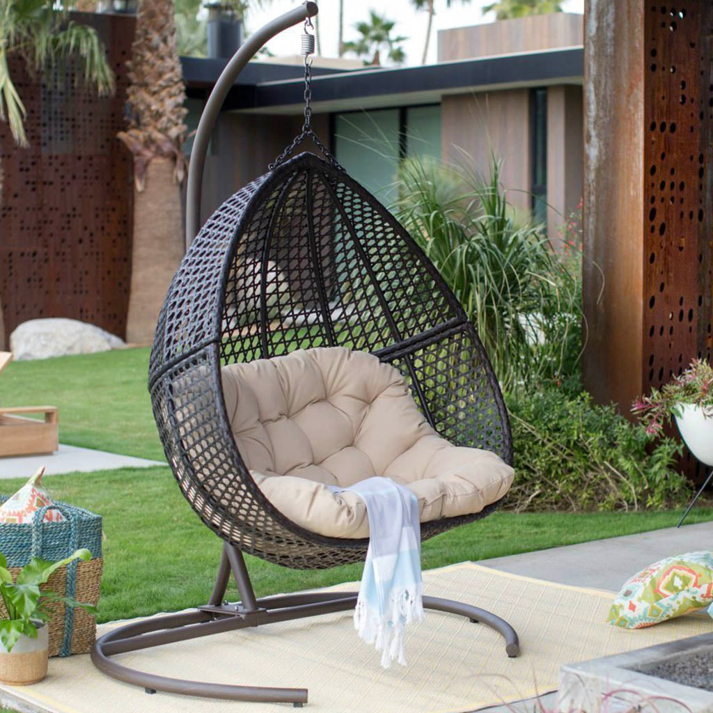 Hanging Egg Chair Loveseat For Luxury Outdoor Patios - Hanging Egg Chair Loveseat For Luxury Outdoor Patios - Hammock Town
