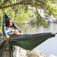 Ultra-Durable Camping Double Hammock With Hanging Straps on Hammock Town