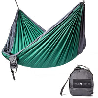 Ultra-Durable Camping Double Hammock With Hanging Straps: Green