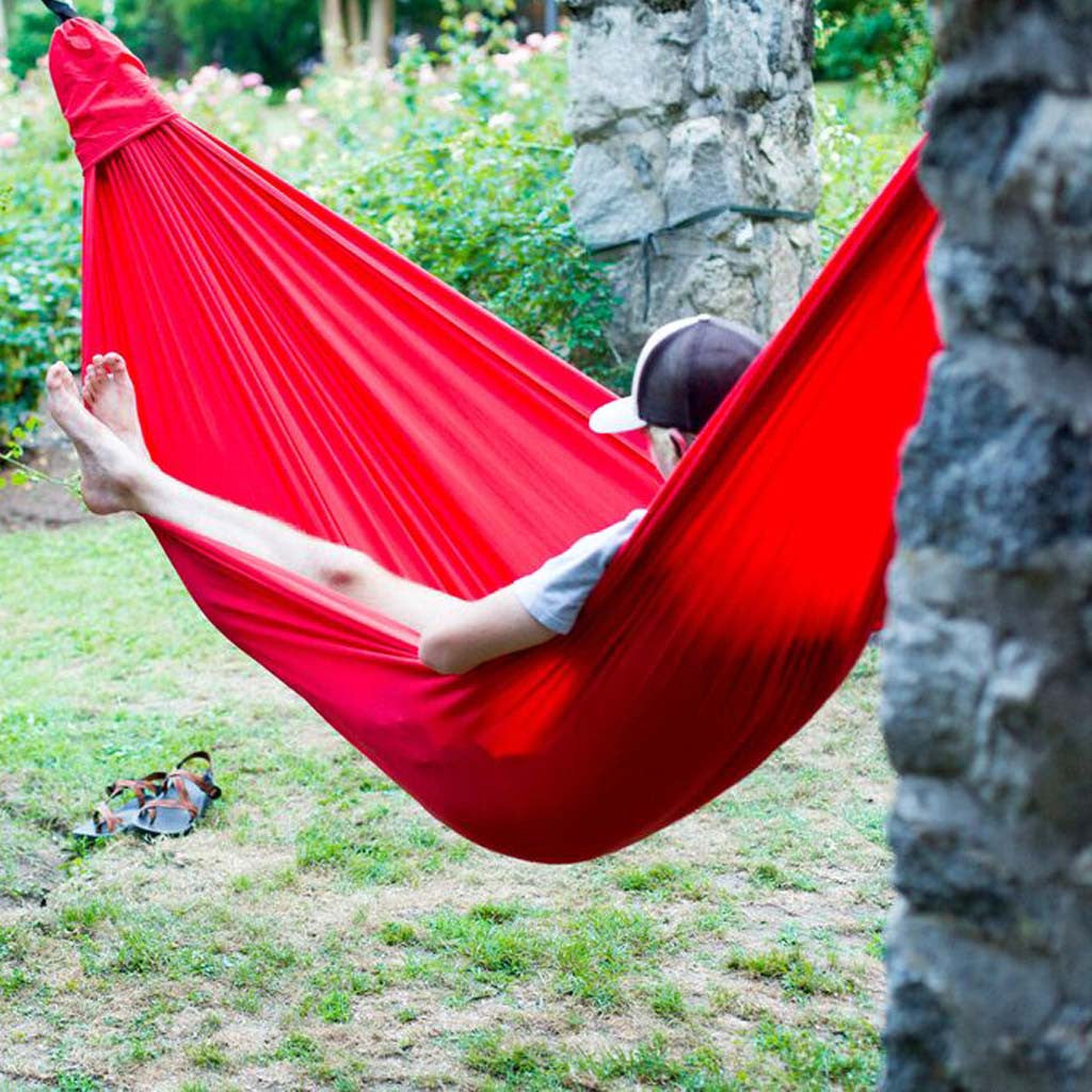 Single Sluice Hammock - Single Hammock: Sluice Hammocks (Red) - Hammock Town