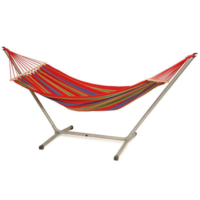 Aruba Jet Set: Red Hammock with Metal Hammock Stand