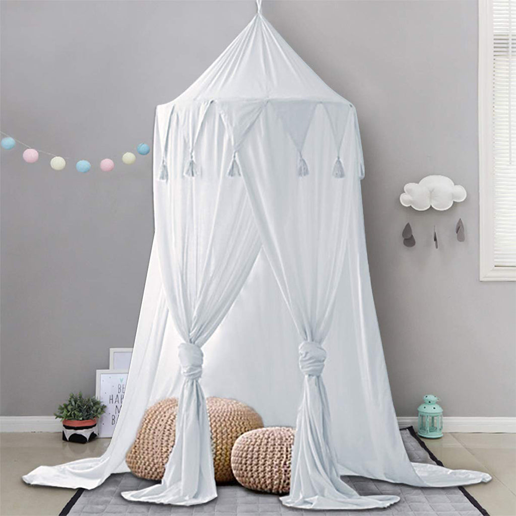 Bed Canopy Lace Mosquito Net for Kids: White