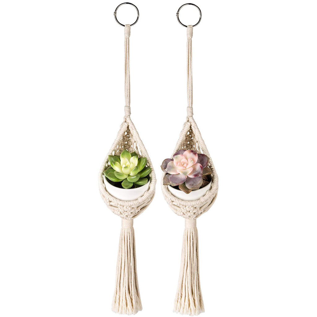 Macrame Boho Air Plant Holder: 2 Packs