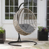 Boho Chic Style Resin Wicker Hanging Egg Chair