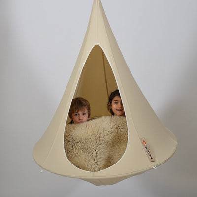 Bonsai Cacoon Hanging Tent in Natural White