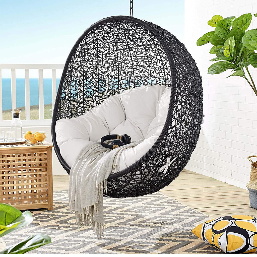 Picture of: Egg Chairs Contemporary Hanging Chairs For Modern Homes Tagged Black White Hammock Town