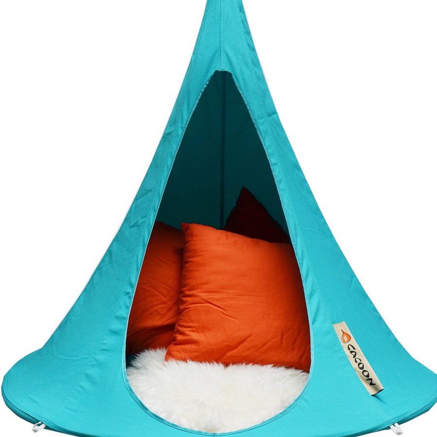 Bonsai Cacoon Hanging Tent in Turquoise