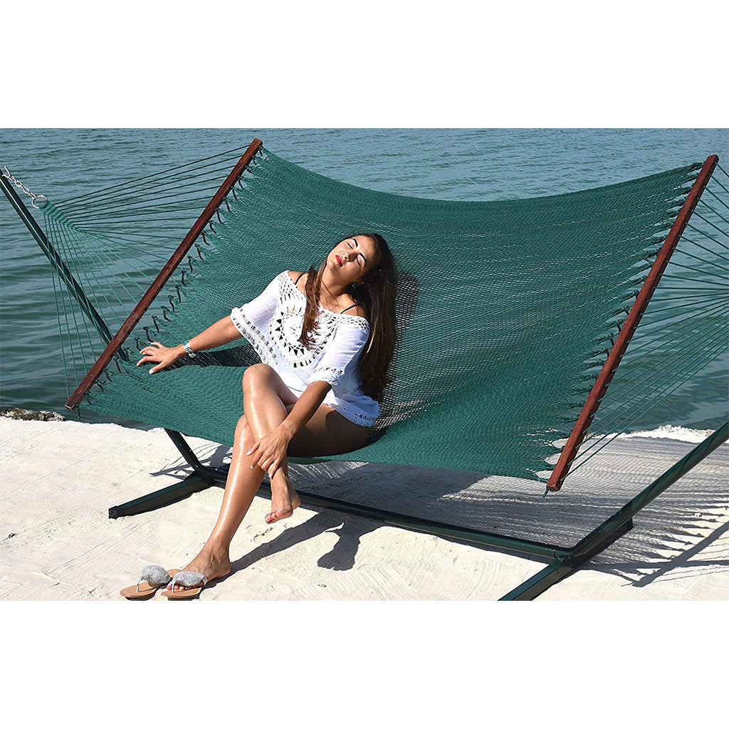 Caribbean Hammocks - Island Oasis and Stand Set: Green