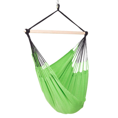 Natural Cotton Colombian Hammock Chair: Lime