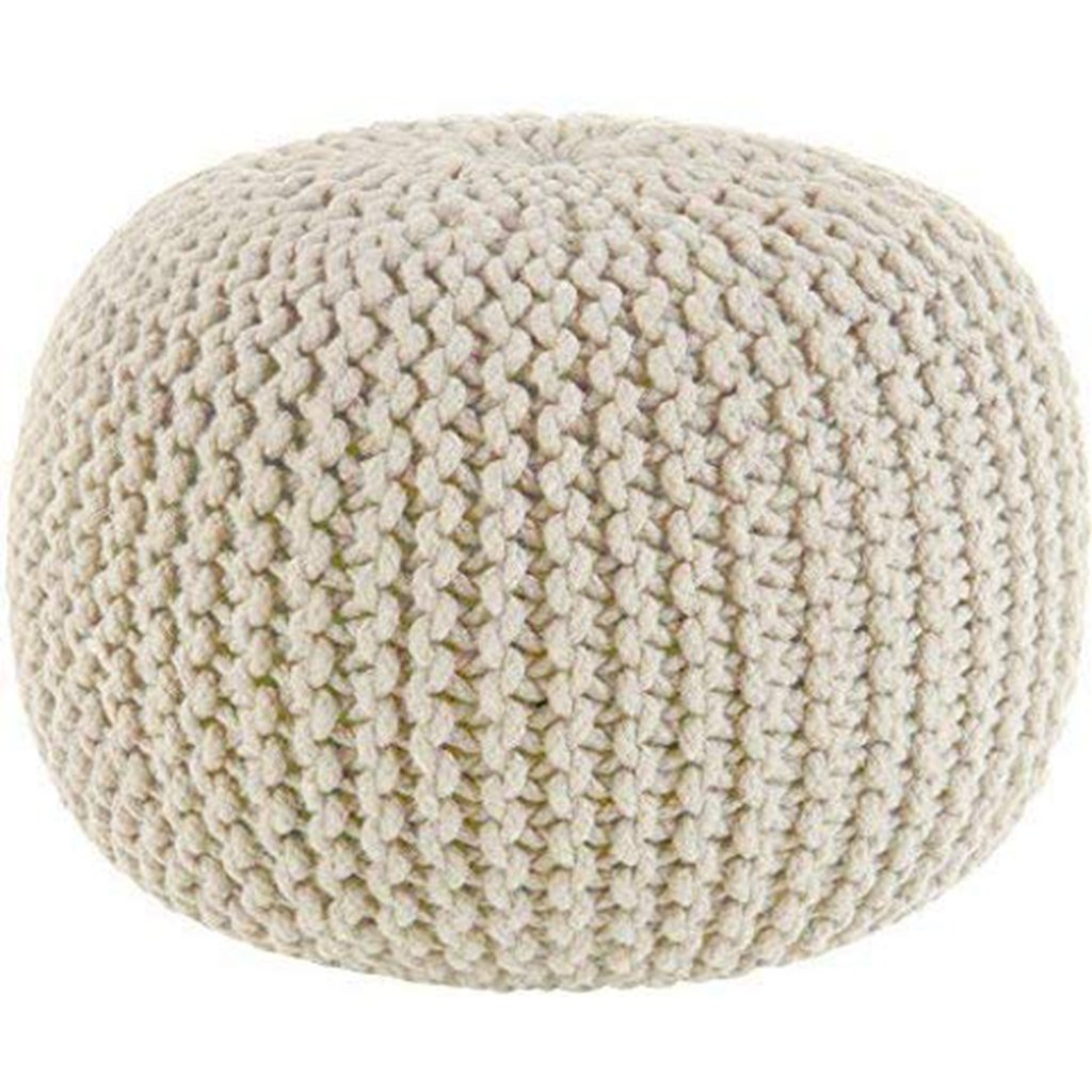 Cotton Craft Hand Knitted Cable Style Dori Pouf