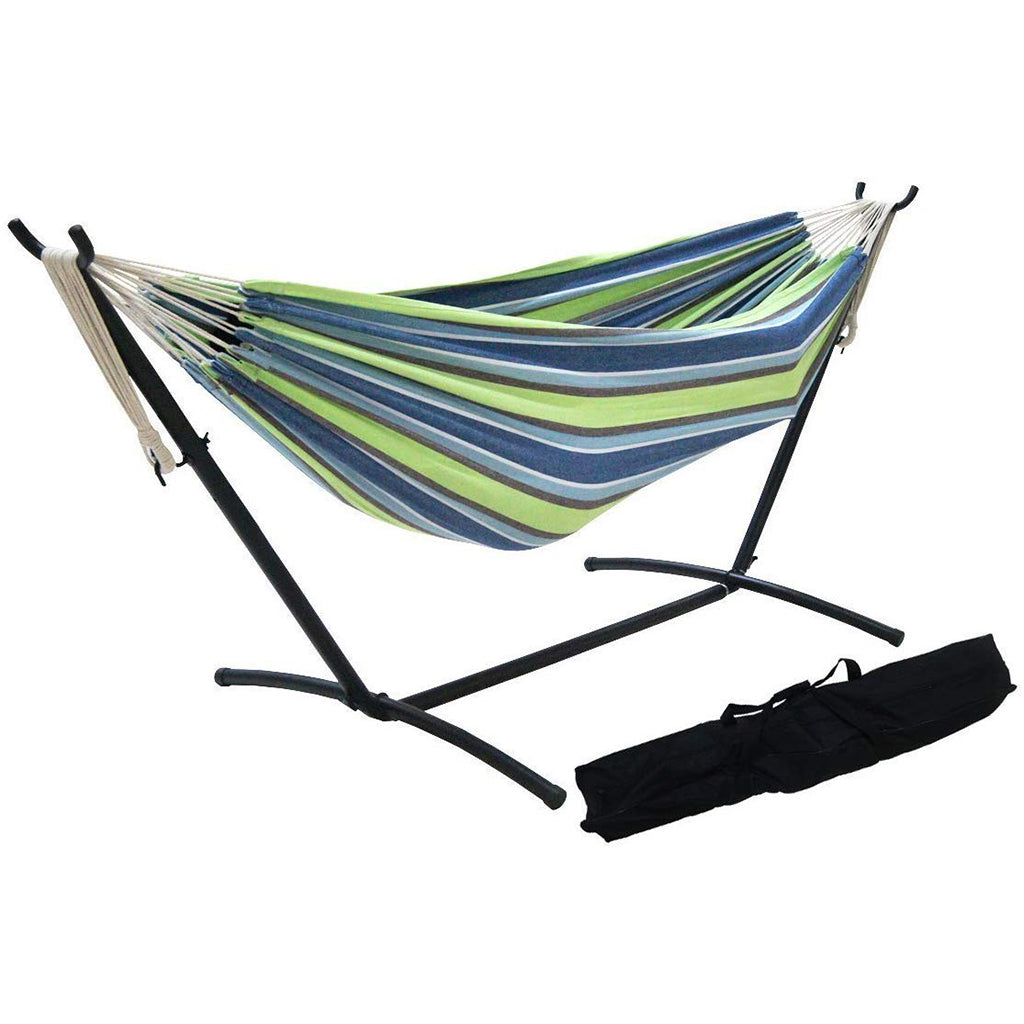 SueSport Double Hammock with Steel Stand and Portable Case