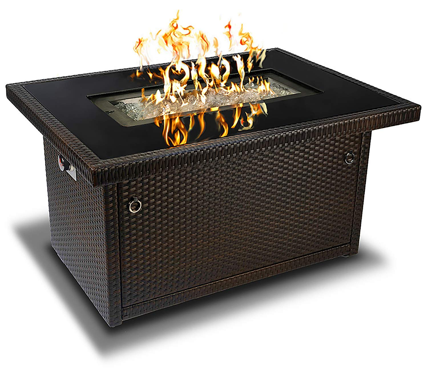 Brown 44-Inch Outdoor Propane Gas Fire Pit Table: Espresso ...