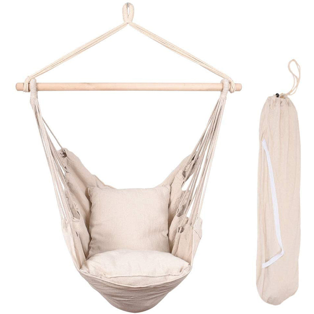 Picture of: Hammock Chair Swing Seat With Two Seat Cushions And Carrying Bag Hammock Town