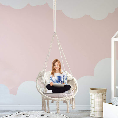 Boho Style Macrame Hanging Chair