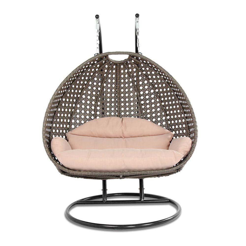 Wicker Swing Chair with Stand for Two People | Dubai Collection