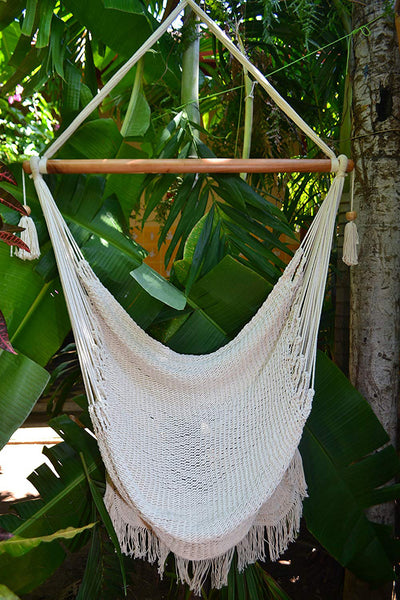 Handmade Hanging Rope Hammock Chair [3 Colors]