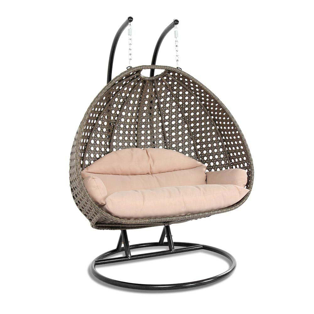 Wicker Swing Chair With Stand For Two People Dubai