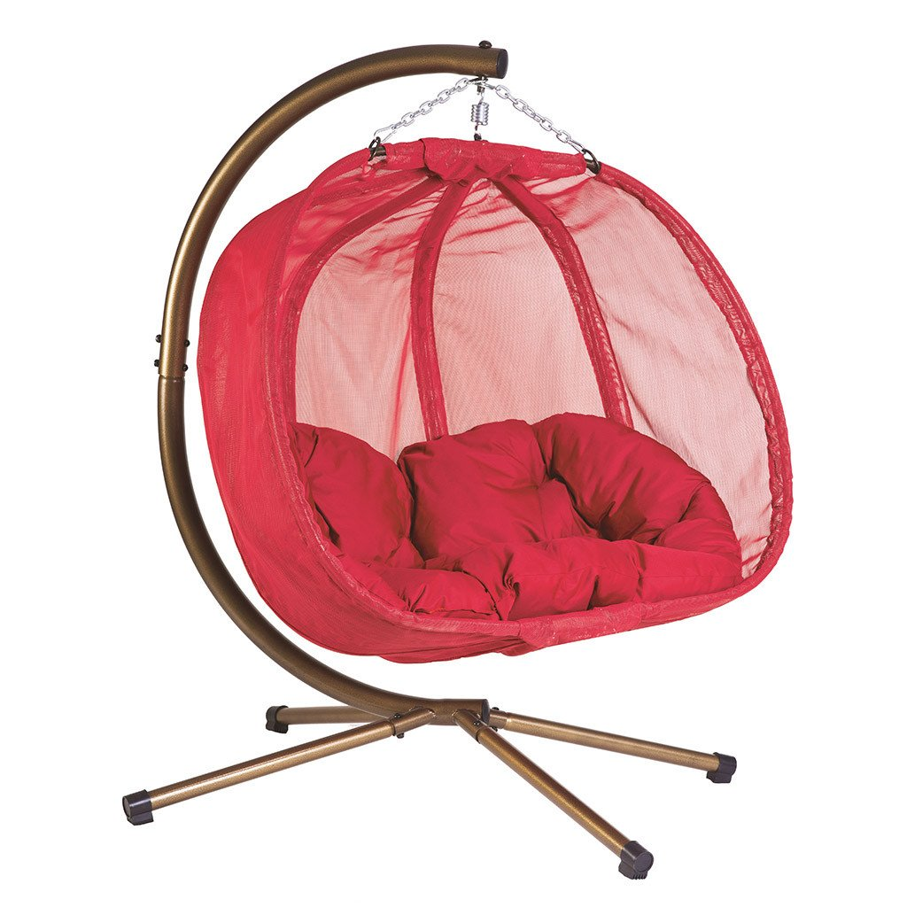 Awesome Double Hanging Egg Chair With Stand By Flowerhouse Hanging Furniture Andrewgaddart Wooden Chair Designs For Living Room Andrewgaddartcom