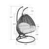 Elegant Outdoor Swing Hanging Egg Shaped Chair on Amazon