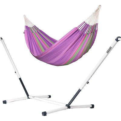 LA SIESTA Organic Cotton Kingsize Family Classic Hammock with Stand: Blossom