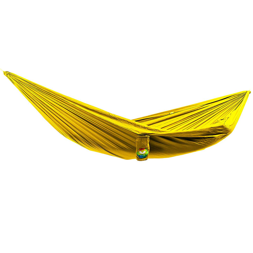 Levitate Single Camping Hammock with Tree Straps: Yellow