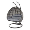 Luxury Outdoor Wicker Hanging Chair with Stand and Cushion by Island Gale