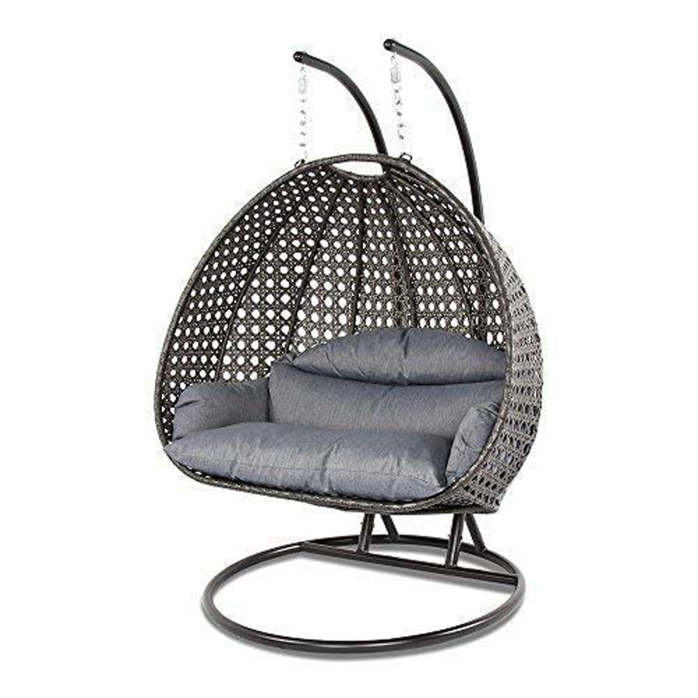 Luxury Outdoor Wicker Hanging Chair with Stand and Cushion ...