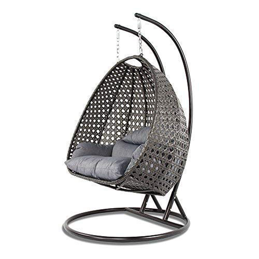Luxury Outdoor Wicker Hanging Chair With Stand And Cushion By Island G Hammock Town