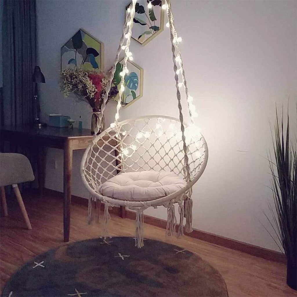 Sonyabecca Macrame Hammock Chair With Led Hammock Town