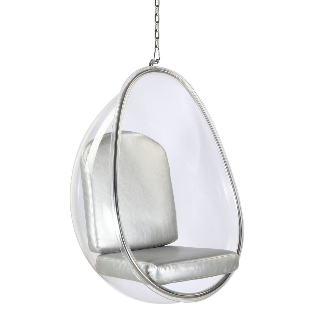 Pleasing Modern Contemporary Accent Hanging Swing Chair Silver Onthecornerstone Fun Painted Chair Ideas Images Onthecornerstoneorg