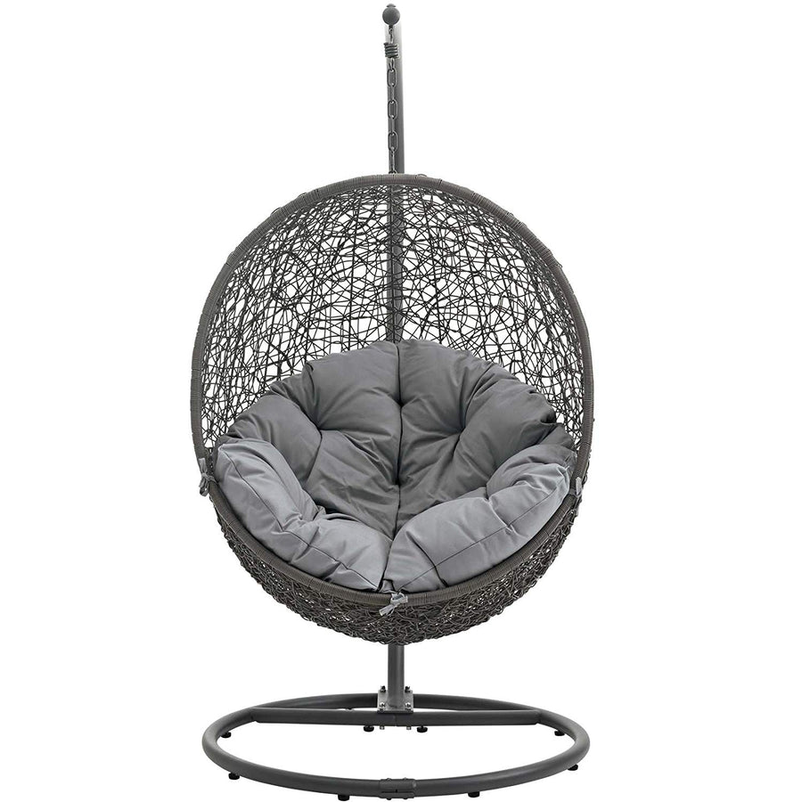 Modway Hide Outdoor Patio Swing Chair, Gray