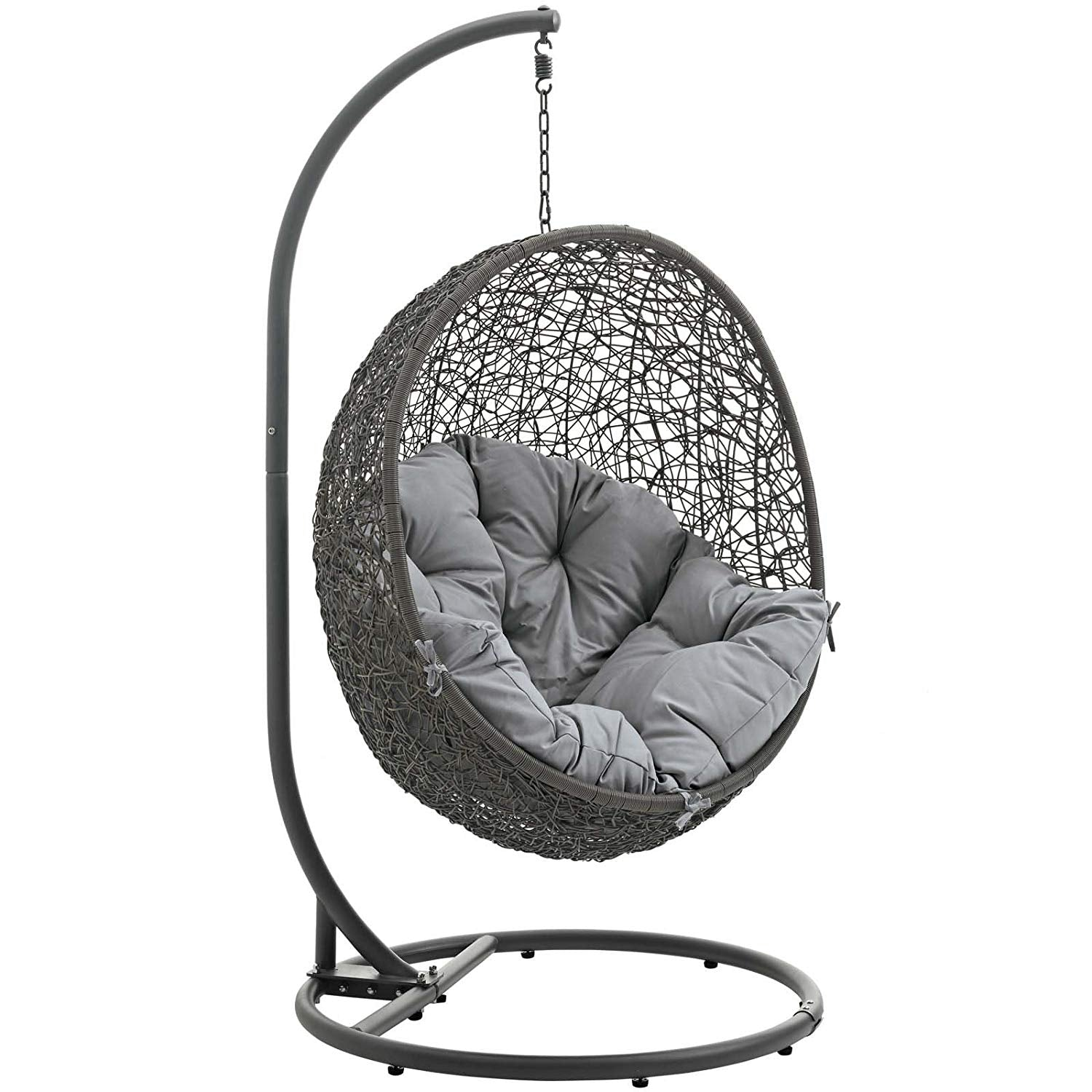 Modway Hide Outdoor Patio Swing Chair Gray