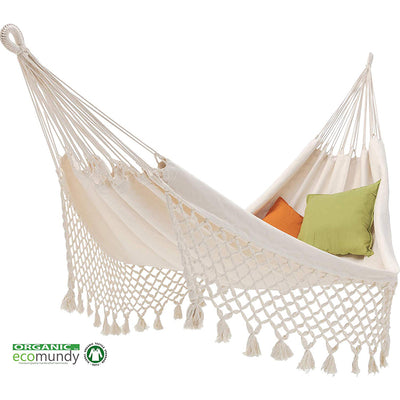 Ecomundy 2 person Organic Cotton hammock: Ecru