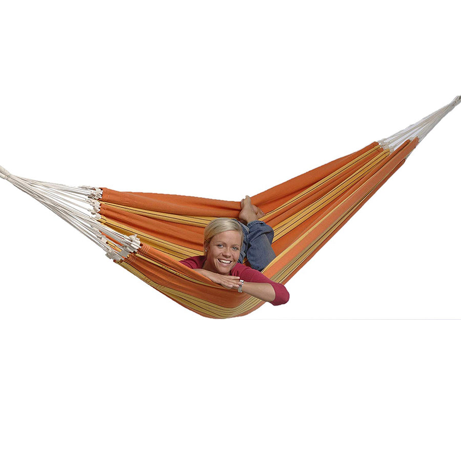 Paradiso Double Brazilian Hammock: Orange