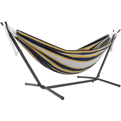 Vivere Double Cotton Hammock with stand and Carry Bag: Serenity