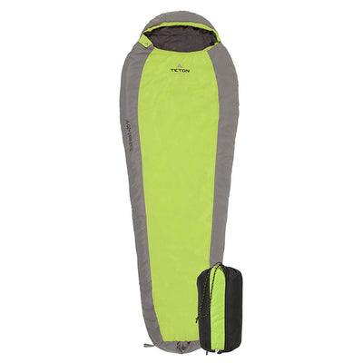 TETON Sports TrailHead Ultralight Mummy Sleeping Bag: Green/Grey